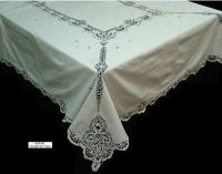 Cotton Embroidery With Cluny lace tablecloths