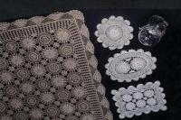 100% Cotton Hand Crochet lace Tablecloth; Doilies;Placemats & Runners