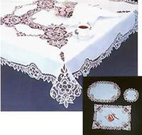 Cotton Embroidery with Batten Lace Tablecloths